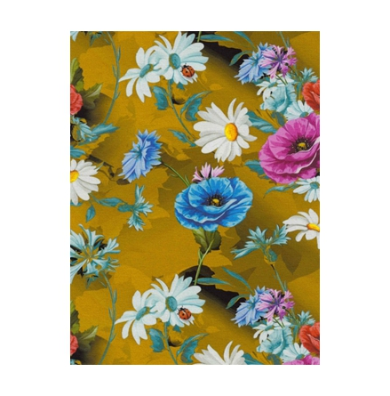 Jersey Blomster Digitalprint